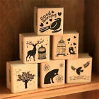 FD3054 Sweet 6 Pattern Wooden Wood Rubber Stamp Stamper Seal Craft Diary 1PC
