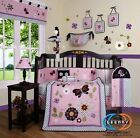 Baby Girl Daisy Flower 13 Piece Nursery CRIB BEDDING SET One Week Special Sales
