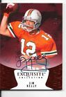 2014 Exquisite Jim Kelly 2 7 Autograph Auto Red Ruby Bills Miami