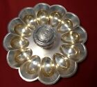 Derby Silver Co. Quadruple Plate #1323 Deviled Egg/ Oyster Plate Tray Aesthetic