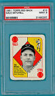 1951 Topps Red Back Dale Mitchell – #13 PSA 9! Indians!