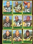 1967 Philadelphia Gum Football Card Lot All Green Bay Packers 9 Different EX EXM