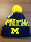 ADIDAS NCAA UNIVERSITY OF MICHIGAN WOLVERINES POM KNIT YOUTH HAT