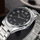 Classic Men's Watch Stainless Steel Band Analog Quartz Casual Wrist Watches
