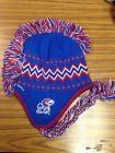 NCAA Team Apparel KANSAS JAYHAWKS Mohawk Tassel Knit Beanie Hat -  NWT - YOUTH