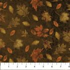 Northcott Call of the Wild by Kathy Goff F20929 36 Brown Leaf   FLANNEL Fabric