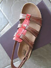 NEW CLARKS LEISA DAISY TAN STRAPPY SANDALS WOMENS 75 STYLE 05194 FREE SHIP