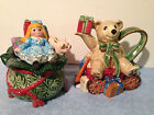 FITZ & FLOYD CLASSICS OLD FASHIONED CHRISTMAS SUGAR AND CREAMER NIB
