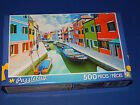 New 500 pc Jigsaw Puzzle Puzzlebug Gift Colorful Houses Burano Island Canal Veni