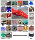 50 Rondelle 6mm Czech Glass Beads Choose Color Wafer Disc Spacers