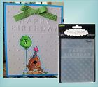 Darice embossing folders HAPPY BIRTHDAY words Cuttlebug Compatibl folder 1215 45