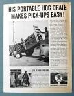 Orig 1961 Texaco Ad Photo endorsed by George Hill of Manly Iowa PROTABLE CRATE