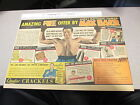 newspaper ad premium 1934 MAX BAER boxing Quaker Crackels cereal box MUSCLES