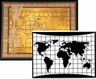 WORLD MAP Embossing folders DARICE folder 1219 138 Travel Cuttlebug Compatible