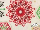 RPG231A Snowflake Winter Christmas Holiday Season Red Green Cotton Quilt Fabric