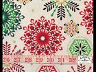 RPG231C Snowflake Winter Christmas Holiday Season Red Green Cotton Quilt Fabric