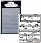 Darice Embossing Folders SHEET MUSIC notes 1216 68 Cuttlebug Compatible NEW A2