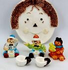 Raggedy Ann and Andy Miniature Tea Set by Magic Creations with Box 1998 Vintage