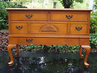 VTG LANE MAPLE WOOD CEDAR HOPE CHEST TRUNK QUEEN ANNE CREDENZA SIDEBOARD DRESSER