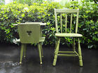 VTG PAIR MID CENTURY 1950 FARMHOUSE MAPLE SIDE END TABLE NIGHTSTAND