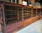 HUGE c1890 heart PINE country store CABINET ~ 22' L x 7' x 34
