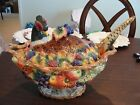 FITZ & FLOYD AUTUMN BOUNTY PHEASANT SOUP TUREEN AND LADLE 11 1/2