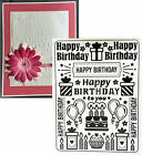 Darice Embossing folders Birthday Collage folder 1219 227 words gifts balloons