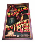 IRON MIKE TYSON & LARRY HOLMES SIGNED 24X15 POSTER W PROOF