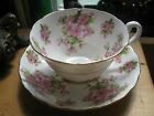 VINTAGE CHELSEA ENGLAND TEA CUP AND SAUCER CHERRY BLOSSOM A1