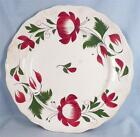 Antique Late Adams Rose Plate Staffordshire England Porcelain 2 Small Edge Flake