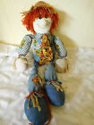 Vtg. Country / Cottage Collectible Rag Doll ScareCrow Primitive Cloth~16