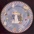 Winter's Garden Salad Plate Cambridge Potteries Christmas Holiday Dinnerware