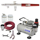 PAASCHE MILLENNIUM AIRBRUSH SET w Quiet AIR COMPRESSOR
