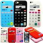 for iPhone 5 5s calculator design red pink blue white black soft case cover skin