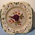 CERTIFIED INTERNATIONAL PAMELA GLADDING  LA TOSCANA  GRAPES  SQUARE  PLATE