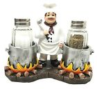 Bistro Chef Double Pot Stewing Figural Salt and Pepper Shakers Decor Collectible
