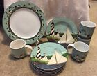 Warren Kimble Coastal Breeze Sakura Lot 11 Pcs Plates Mugs Lighthouses