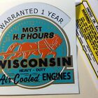314 Oil Wisconsin Engine Decal More Horsepower Hours