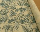 FABRIC, French Country BLUE FLORAL /ECRU, 3.5 YARDS