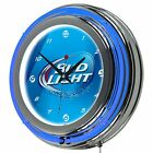Officially Licensed Bud Light Neon Wall Clock 14 In with AC Adapter