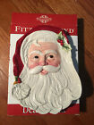 FITZ & FLOYD OLD FASHIONED CHRISTMAS Dear Santa Claus PLATE Canapes,Cookies,Etc