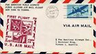 DR JIM STAMPS US NEW YORK - VIENNA FIRST CLIPPER FLIGHT AIR MAIL COVER 1946