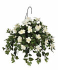 House of Silk Flowers Inc. Artificial Hibiscus Hanging Plant in Baske