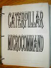 CAT Caterpillar MICROCOMMAND CONTROL SYSTEM TRAINING SERVICE MANUAL FORKLIFT T/S