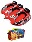 AIRHEAD AHVI F3 Viper 3 Triple Rider Cockpit Inflatable Towable Tube w Tow Rope