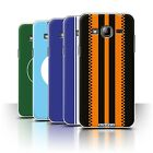 STUFF4 Phone Case/Back Cover for Samsung Galaxy J3 /Racing Car Stripes