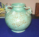RARE GLAZED VINTAGE RED WING RUMRILL ART POTTERY TWO HANDLED ELEPHANT VASE #215