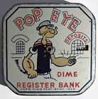 S226. VINTAGE King Features Syndicate POPEYE Tin-Litho Dime Register Bank 1929 [