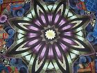 STAR ROUND PILLOW PANEL QUILT SQUARE BLOCK CHEATER FABRIC