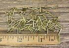 """ BRASS BRADS NAILS 100 pieces small head 18 gauge Escutcheon pins USA made!"